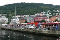 Norský Bergen u přístavu