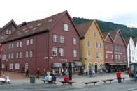 Křivé domy v Bergenu