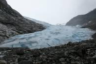 Ledovec Jostedalsbreen z blízka