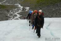 Turisté na ledovci