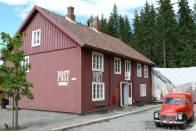 Pošta ve skanzenu Maihaugen, norský Lilehammer