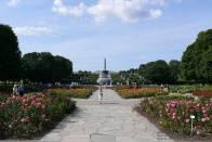 Frogner Park Oslo - park plný květin