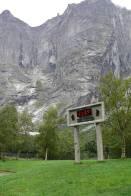 ukazatel teploty na Trollveggenu
